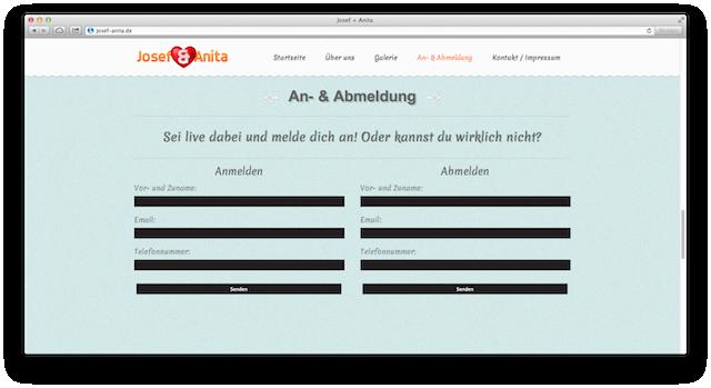 Josef+Anita Website Anmeldung/Abmeldung